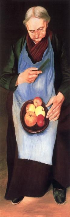Чонтвари Костка (Csontváry Kosztka). Старая женщина, чистящая яблоки (Almát hámozó öregasszony), 1894