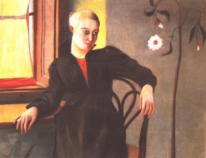 Чонтвари Костка (Csontváry Kosztka). Женщина сидящая у окна (Ablaknál ülő nő), 1890-e