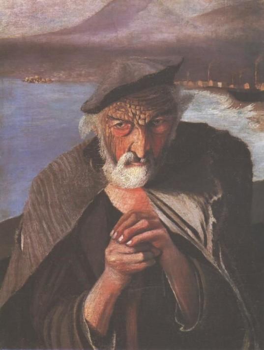 Чонтвари Костка (Csontváry Kosztka). Старый рыбак (Öreg halász), 1902