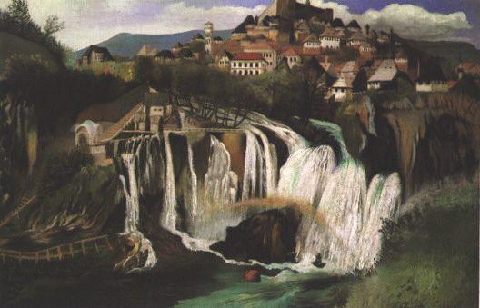 Чонтвари Костка (Csontváry Kosztka). Водопад Яйце (Jajcei vízesés), 1903