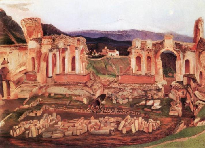 Чонтвари Костка (Csontváry Kosztka). Уголок Таормина (A kis Taormina), 1904