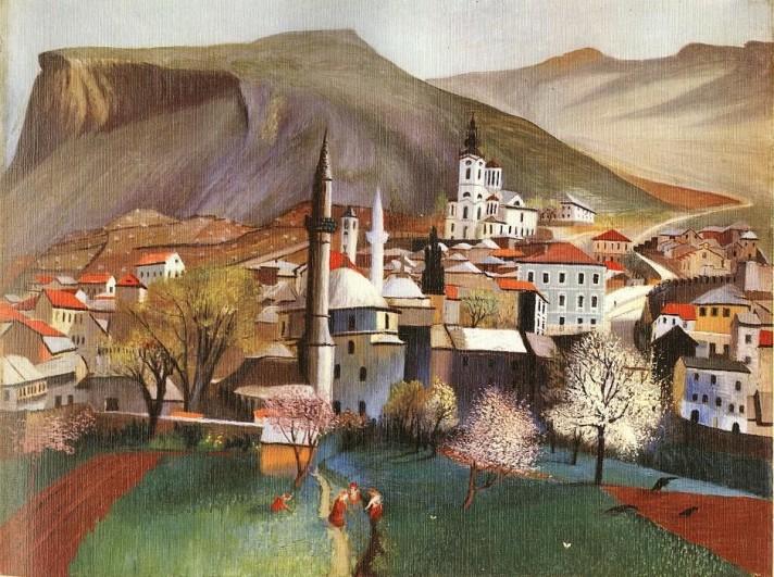 Чонтвари Костка (Csontváry Kosztka). Весна в Мостаре (Tavasz Mosztárban), 1903