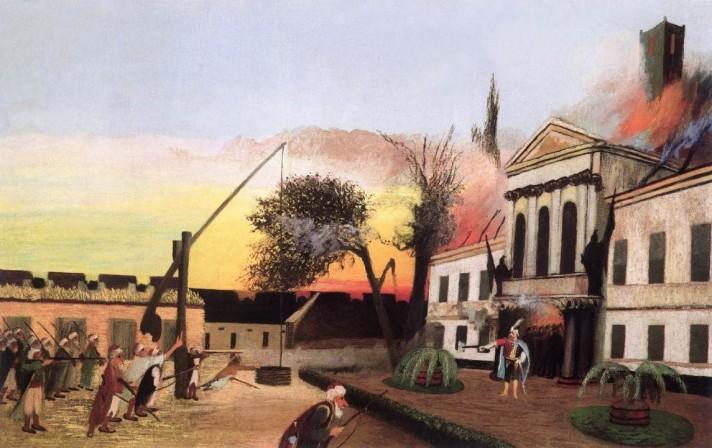 Чонтвари Костка (Csontváry Kosztka). Бой Зрини (Zrinyi kirohanása), 1903
