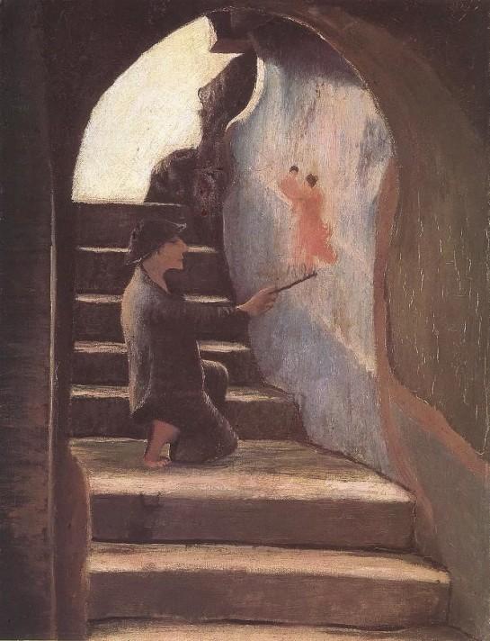Чонтвари Костка (Csontváry Kosztka). Молодой художник (Az ifjú festő), 1898