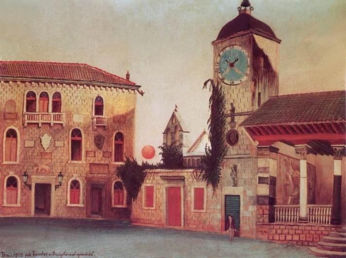 Чонтвари Костка (Csontváry Kosztka). Прощальный взгляд солнца на Тригор (Visszatekintő nap Trauban), 1899