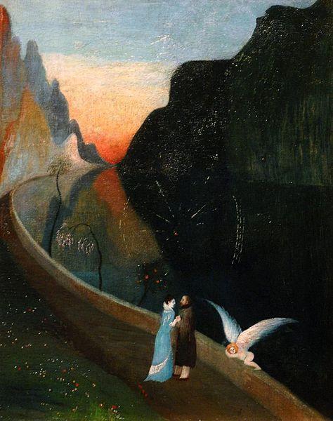 Чонтвари Костка (Csontváry Kosztka). Свидание вюбленных (Szerelmesek találkozása), 1902