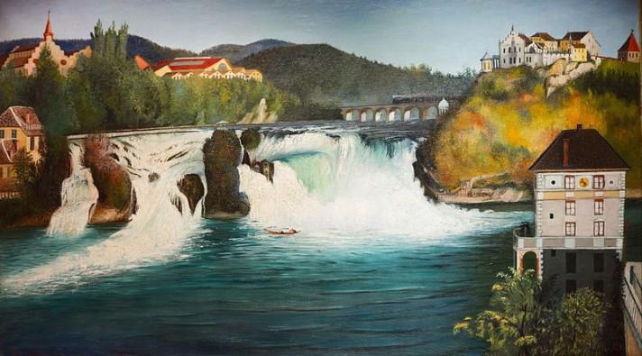 Чонтвари Костка (Csontváry Kosztka). Водопад Шаффхаузен (Schaffhauseni vízesés), 1903
