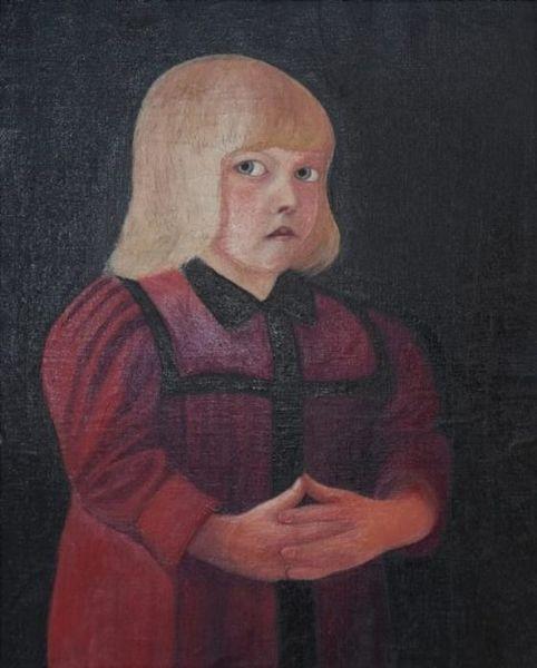 Чонтвари Костка (Csontváry Kosztka). Ребенок в красном (Piros ruhás gyermek), 1894