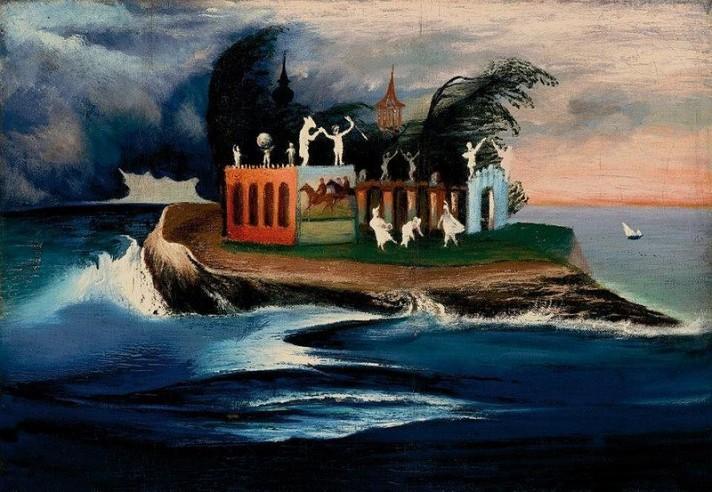 Чонтвари Костка (Csontváry Kosztka). Таинственный остров (Titokzatos sziget), 1903