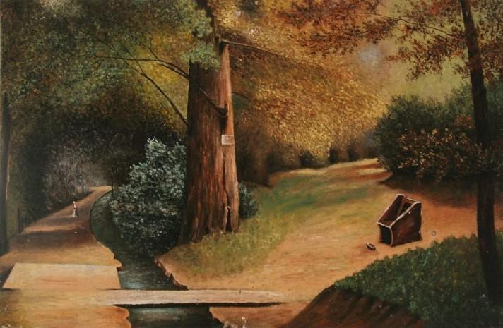 Чонтвари Костка (Csontváry Kosztka). Уголок в парке (Parkrészlet), 1891
