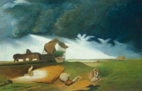 Чонтвари Костка (Csontváry Kosztka). Буря в чистом поле (Vihar a pusztán), 1890-е