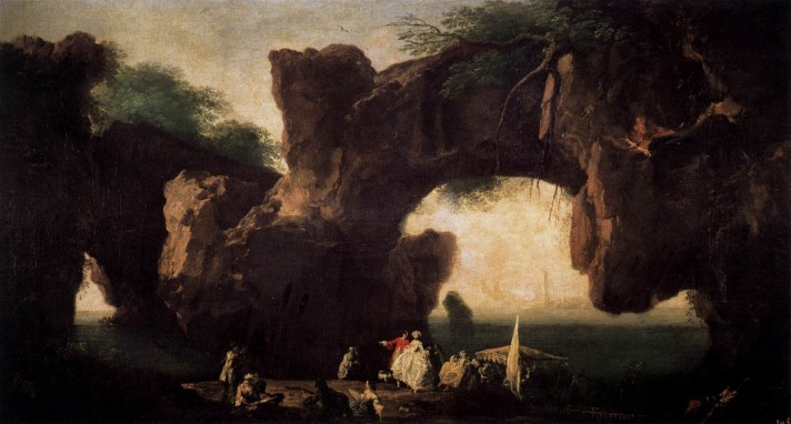 Клод Жозеф Верне (1714–1789). Морской пейзаж: Вид Сорренто. Около 1745. Холст, масло. 59х105 см. Прадо, Мадрид.