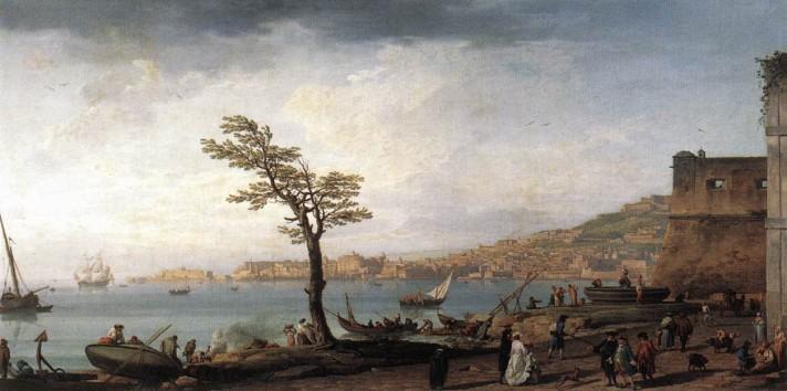 Клод Жозеф Верне (1714–1789). Вид Неаполя. 1748. Холст, масло. 100х198 см. Лувр, Париж.