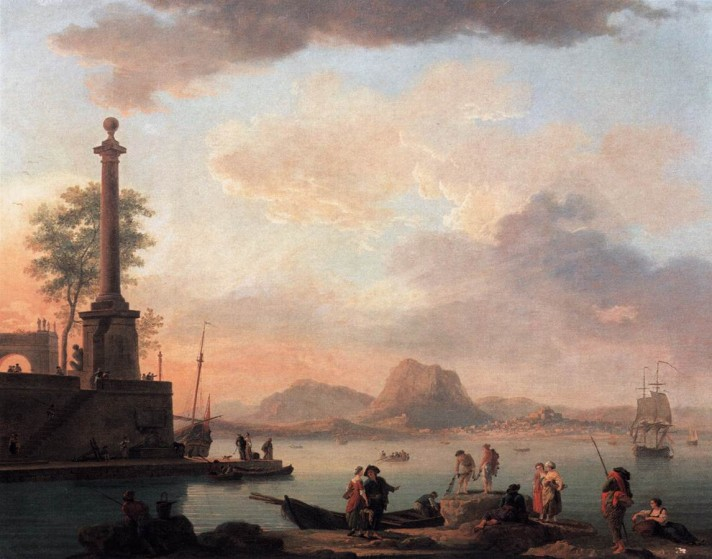 Клод Жозеф Верне (1714–1789). Острова архипелага. 1751. Холст, масло. 132х163 см. Академия художеств, Вена.