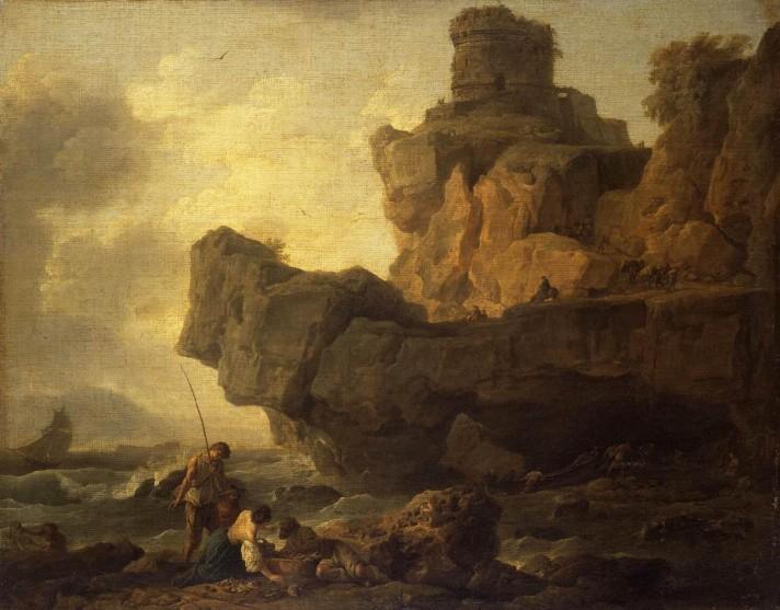 Клод Жозеф Верне (1714–1789). Скалы на берегу моря. 1753. Холст, масло. 83х105 см. Государственный Эрмитаж, Санкт-Петербург.