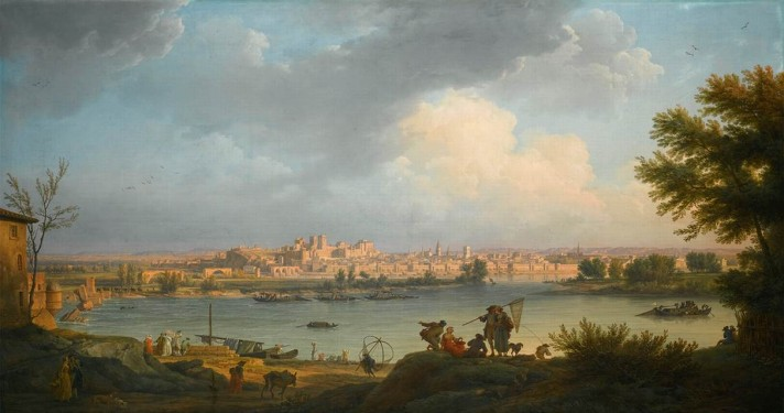 Клод Жозеф Верне (1714–1789). Вид Авиньона. 1757. Холст, масло. 99х183 см. Частная коллекция.