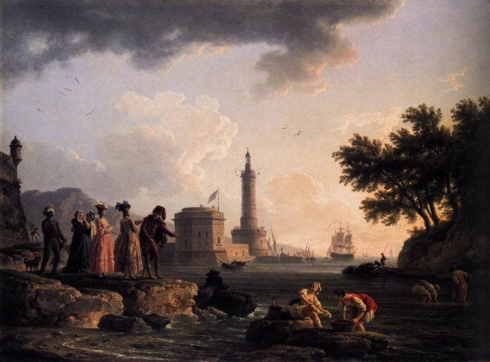 Клод Жозеф Верне (1714–1789). Взморье. 1776. Медь, масло. 59х105 см. Национальная галерея, Лондон.
