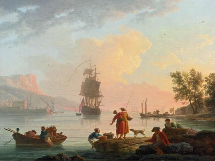 Клод Жозеф Верне (1714–1789). Прибрежная сцена. 1781. Холст, масло. 39х50 см. Частная коллекция.