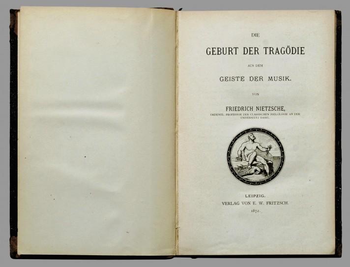 Фридрих Ницше. Рождение трагедии. 1-е издание. Лейпциг, 1872.