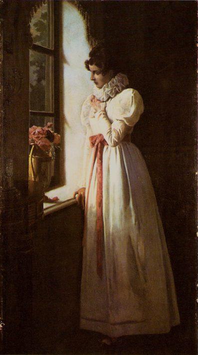 Михаил Петрович Клодт (1835-1914). Татьяна Ларина у окна. 1896. Холст, масло.