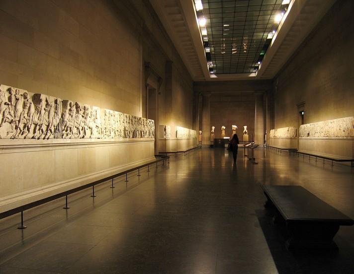 Залы Эльгинского мрамора. Британский музей, Лондон.