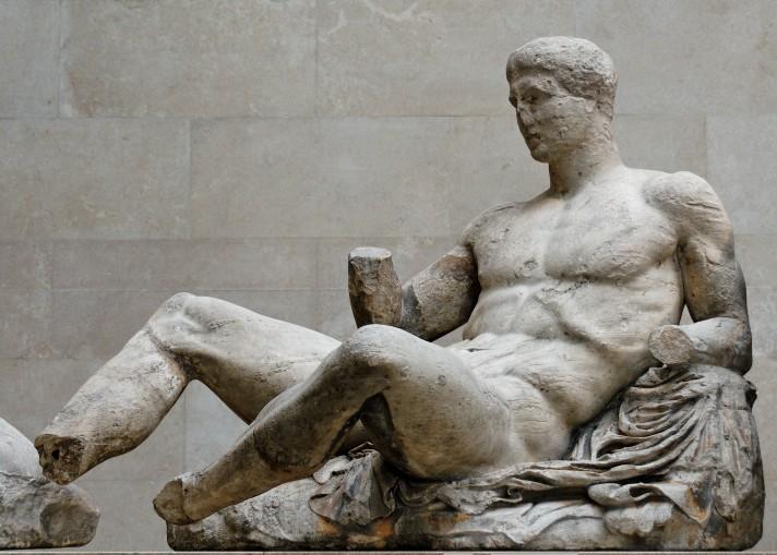 Неизвестный автор. Дионисий. Афины. Около 447 – 433 г. до н.э. Мрамор. Британский музей, Лондон.
