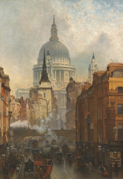 Джон о'Коннор (1830–1889). Лудгейт, вечер. 1884.