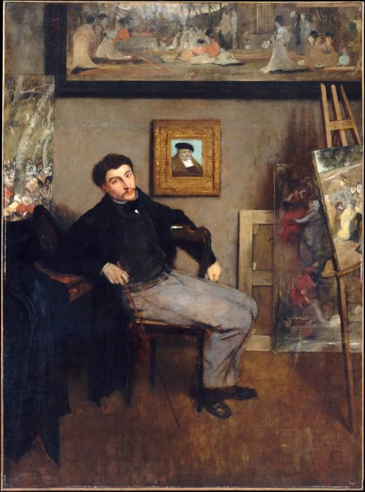 Эдгар Дега (1834 – 1917). Портрет Джеймса Тиссо. Около 1867–1868 гг. Масло, холст. 151,4х112 см. Метрополитен-музей, Нью-Йорк.