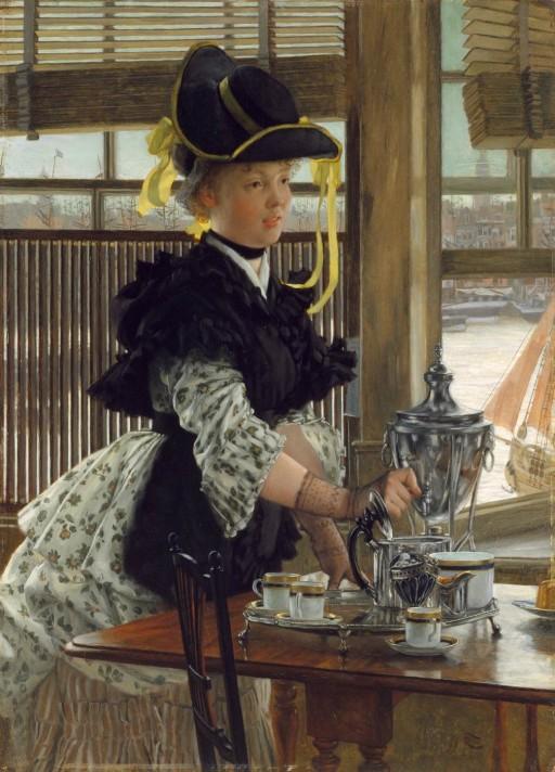 Джеймс Тиссо (1836–1902). Чай. 1872 гг. Масло, дерево. 66х48 см. Частная коллекция