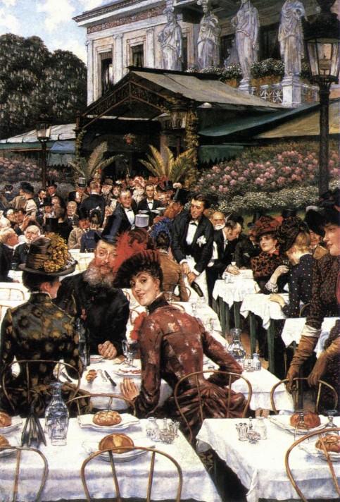 Джеймс Тиссо (1836–1902). Художники и их жены. 1885. Масло, холст. 146х102 см. Художественный музей Крайслер, Норфлок, Вирджиния.