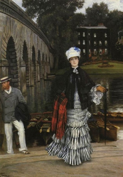 Джеймс Тиссо (1836–1902). Возвращение с лодочной прогулки. Масло, холст. Частная коллекция.