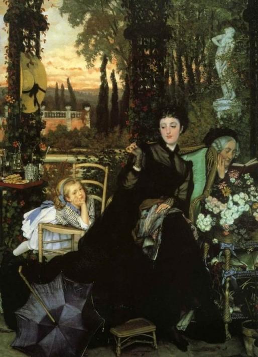Джеймс Тиссо (1836–1902). Вдова. Масло, холст. 69х50 см. Частная коллекция.