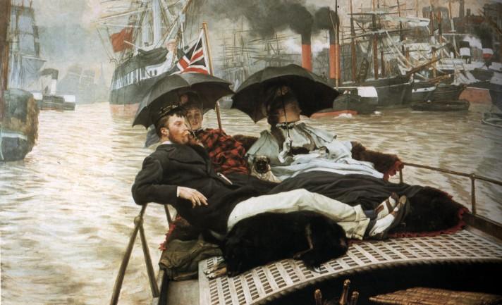 Джеймс Тиссо (1836–1902). Темза. Около 1876. Масло, холст. 152,5х101,5 см. Частная коллекция.