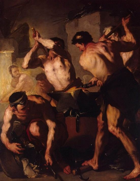 Лука Джордано (1634–1705). Кузница Вулкана. 1660. Масло, холст. 193х152 см. Государственный Эрмитаж, Санкт-Петербург.