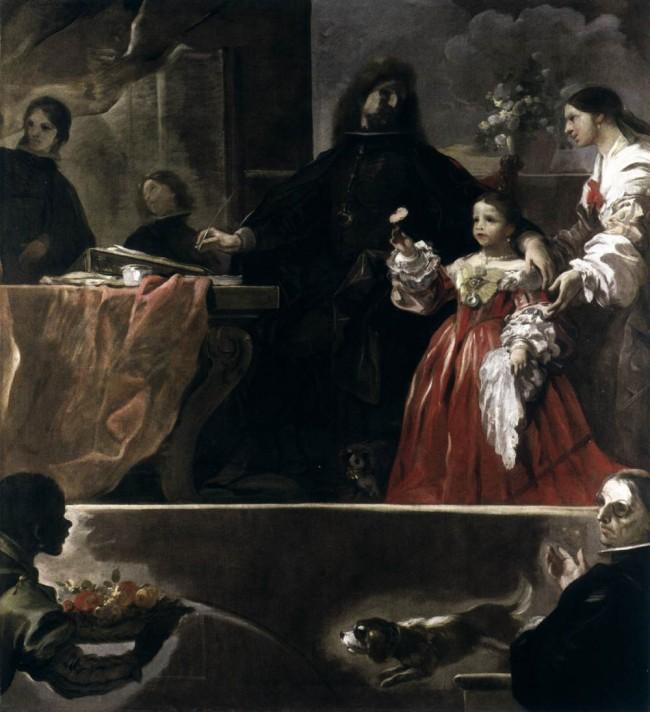 Лука Джордано (1634–1705). Посвящение Веласкеса. 1692-1700. Масло, холст. 205х182 см. Национальная галерея, Лондон.