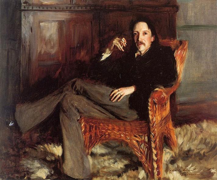 Джон Саржент (1856-1925). Портрет Роберта Луиса Стивенсона. 1887. Музей искусств Тафта. Цинцинати, Огайо, США.