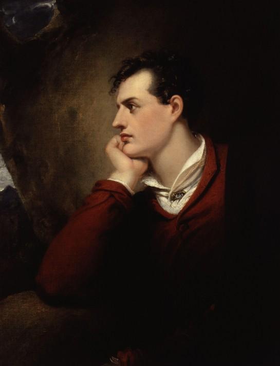 Ричард Уэсталл. Джордж Гордон Байрон. 1818. Масло, холст. Национальная портретная галерея, Лондон.