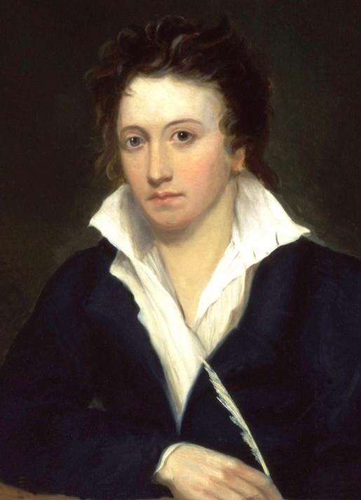 Альфред Клинт. Перси Биши Шелли. 1819. Масло, холст. Национальная портретная галерея, Лондон.