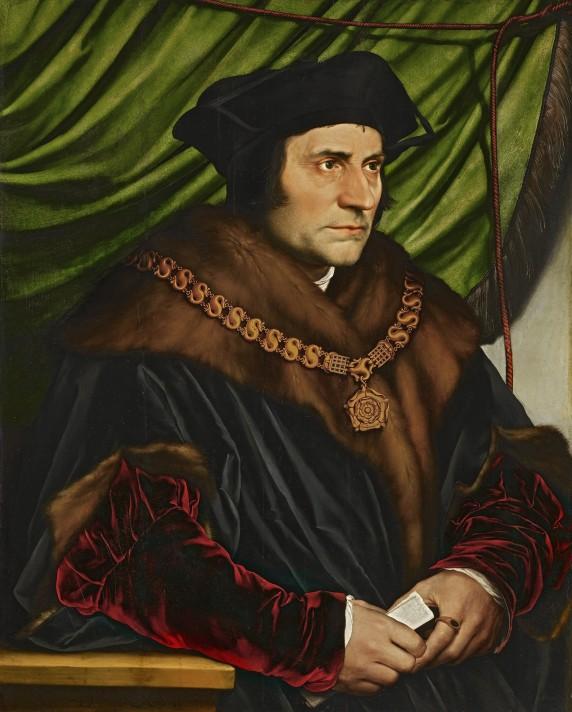 Ганс Гольбейн-младший (1497/1498–1543). Портрет сэра Томаса Мора (1478–1537). 1535. Масло, дуб. 74,9х60,3 см. Коллекция Фрика, Нью-Йорк.