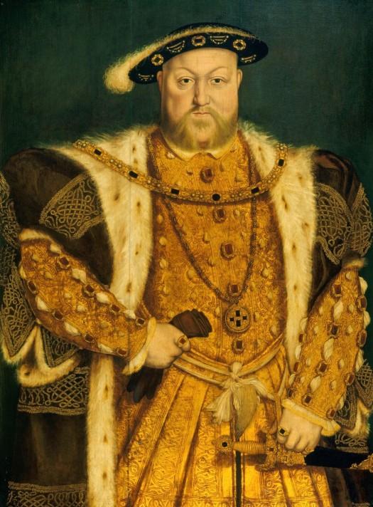 Ганс Гольбейн-младший (1497/1498–1543). Портрет Генриха VIII (1491-1547). После 1538 г. Масло, дерево. 99,8х74,2 см. Британская королевская коллекция, Виндзор.