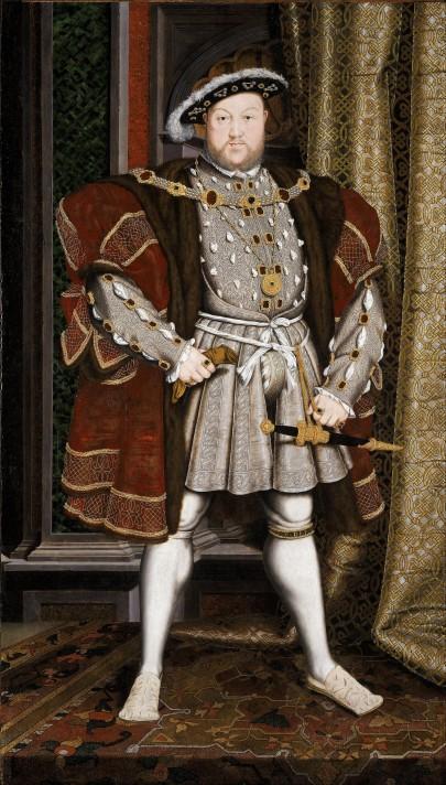 Ганс Гольбейн-младший (1497/1498–1543). Портрет Генриха VIII (1491-1547). Масло, холст. После 1536 г. Галерея Уокера, Ливерпуль.
