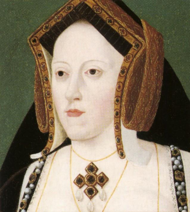 Лукас Хонболт (1490/1495–1544). Екатерина Арагонская (1485-1536). Национальная портретная галерея, Лондон.
