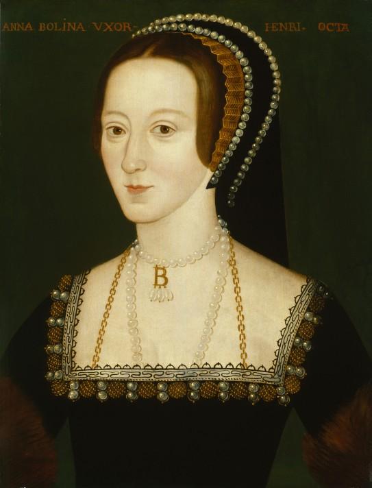 Неизвестный художник. Портрет Анны Болейн (1501/1507–1536). Около 1533-1536. Национальная портретная галерея, Лондон.