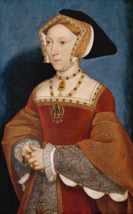 Ганс Гольбейн-младший (1497/1498–1543). Портрет Джейн Сеймур (ок. 1508/1509–1537). Около 1536-1537. Темпера, дерево. 65,4х40,7 см. Музей истории искусств, Вена.