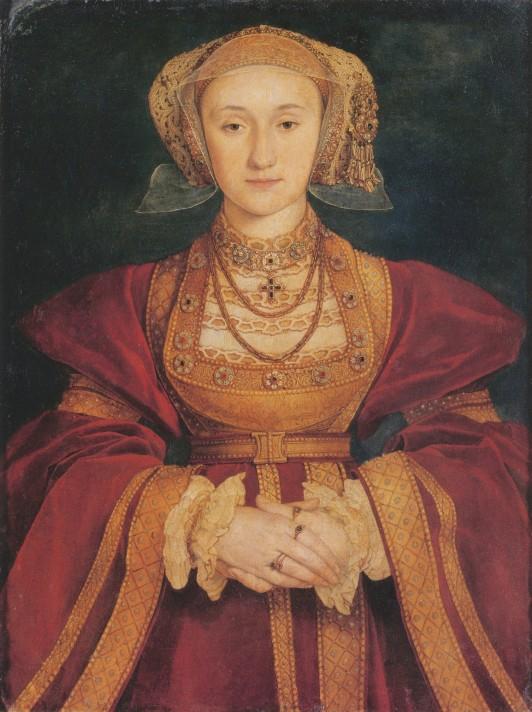 Ганс Гольбейн-младший (1497/1498–1543). Портрет Анны Клевской (ок. 1515–1557). Около 1539. Темпера, дерево. 65х48 см. Лувр, Париж.