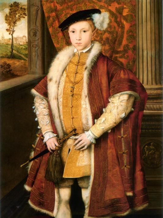 Ганс Эворт (ок. 1520-1574). Портрет Эдуарда VI (1537-1553). Ок. 1547-1549. Национальная портретная галерея, Лондон.