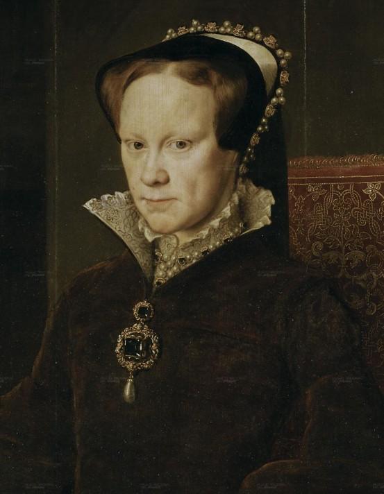 Антонио Мор (1519-1575). Портрет Марии Тюдор (1516-1558). 1554. Масло, дерево. 109х84. Прадо, Мадрид.