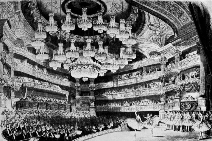 «Жизель» Адана на сцене Парижской оперы. Литография 1867 г.