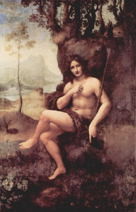 Школа Леонардо да Винчи. Вакх. 1511-1515. Масло, дерево. 177х115 см. Лувр, Париж.