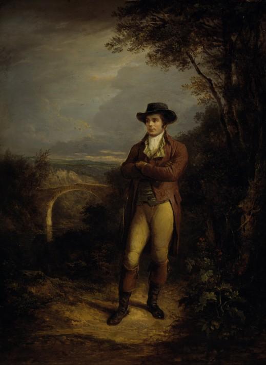 Александр Несмит. Роберт Бернс, поэт. 1828. Масло, дерево. 61,1х44,5 см. Национальная портретная галерея, Лондон.